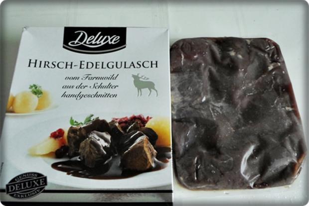 Hirschgulasch mit Salzkartoffeln & Sauerkraut-Salat - Rezept - Bild Nr. 4