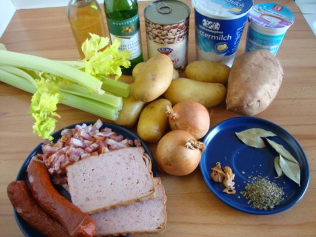 Kartoffel-Bohnentopf mit deftigen Einlagen - Rezept - Bild Nr. 2403