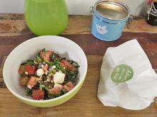 Wassermelonensalat an Blumenkohl-Mandel-Falafel - Rezept - Bild Nr. 2