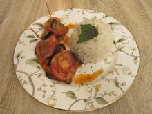 Frikadellen ummantelt von Auberginen an Türkischem Reis - Rezept