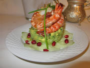 Avocado Tartar mit Riesengarnelen - Rezept