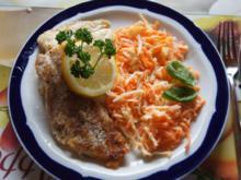 Fischfiletpfanne mit Möhren-Sellerie-Salat - Rezept