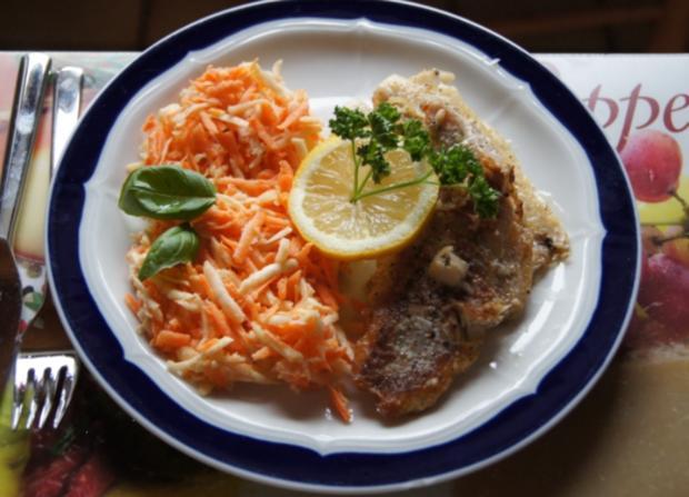 Fischfiletpfanne mit Möhren-Sellerie-Salat - Rezept - Bild Nr. 4