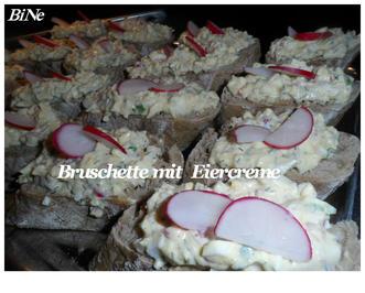 BiNe` S BRUSCHETTA MIT EIERCREME - Rezept