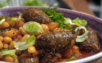 Rezept: Weiße-Bohnen-Tomaten-Topf mit Fenchel und Merguez