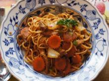 Chinesische Bratnudeln mit Schweinefleisch - Rezept