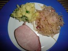Kaiserbraten, Sauerkraut + Kartoffelstampf - Rezept