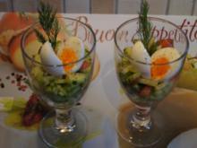 Ei im Glas auf Gurken-Tomaten-Salsa - Rezept