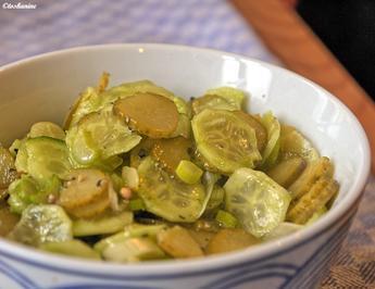 Gurken-Gurken-Salat - Rezept