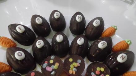 Schokoladen-Eier ohne Zucker - Rezept