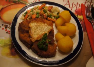 Kotelett mit Kartoffelpilzen und Buttergemüse - Rezept