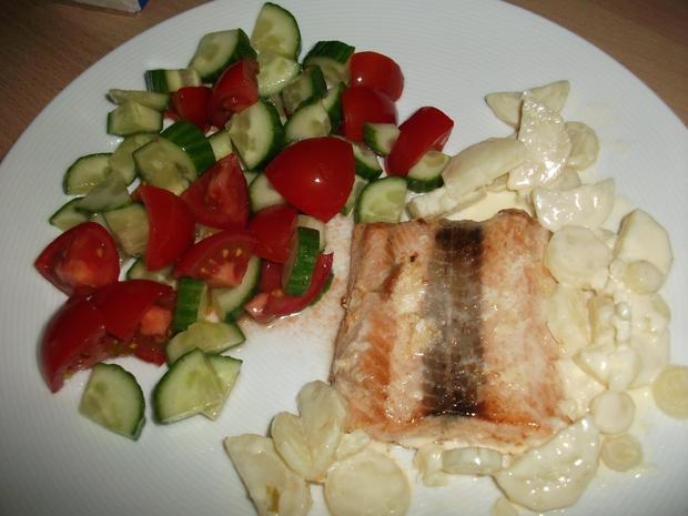 Wildlachs mit Gemüse  - Rezept