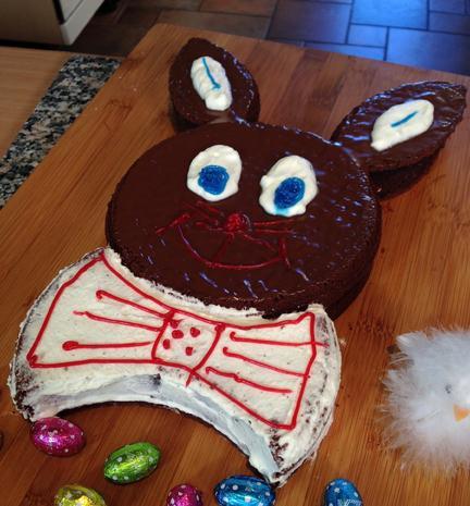 Hasenkuchen mit Schokolade oder Kokos für Ostern - Rezept - Bild Nr. 2