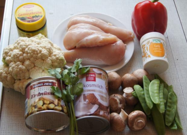 Hähnchenbrustfilet-Curry mit Kokosmilch und Blumenkohl-Reis - Rezept - Bild Nr. 2