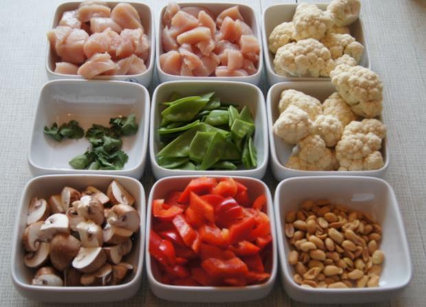 Hähnchenbrustfilet-Curry mit Kokosmilch und Blumenkohl-Reis - Rezept - Bild Nr. 3
