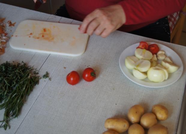 Lammkeule mit grünen Bohnen und Rosmarin Kartoffeln - Rezept - Bild Nr. 4
