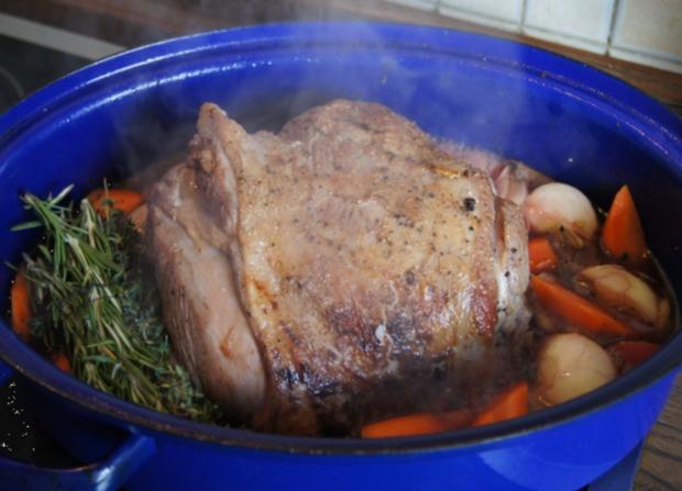 Lammkeule mit grünen Bohnen und Rosmarin Kartoffeln - Rezept - Bild Nr. 6