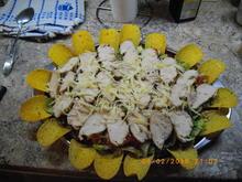 Hähnchensalat mit Taccochips - Rezept