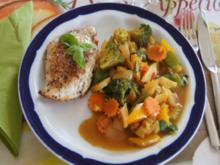 Putenschnitzel mit Wok-Gemüse - Rezept