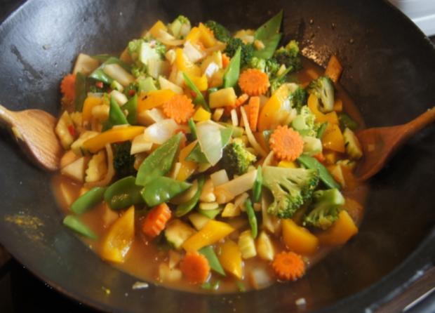 Putenschnitzel mit Wok-Gemüse - Rezept - Bild Nr. 12