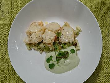 Rezept: Lobsterschwanz an Joghurt Gurken Espuma