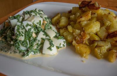Salat:  Schnittlauchsalat - saarländische Küche - Rezept