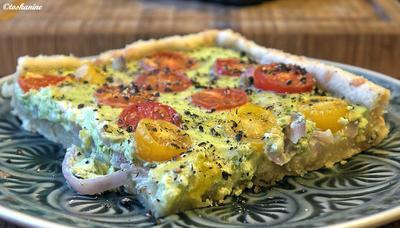 Bärlauch-Tomaten-Quiche - Rezept