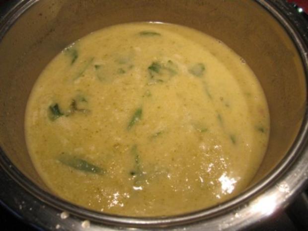 Sellerie Spinat Schaumwein Suppe - Rezept - Bild Nr. 7