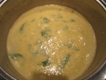 Sellerie Spinat Schaumwein Suppe - Rezept - Bild Nr. 10