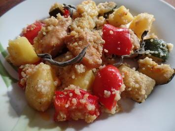 Hähnchenbrust auf Gemüse und Couscous - Rezept