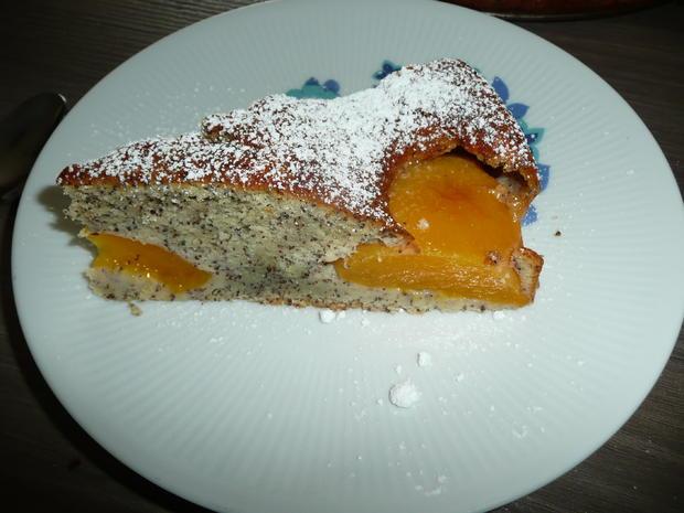 Mohn - Quark -   Pfirsich - Kuchen - Rezept - Bild Nr. 6