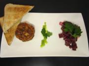 Asiatisches Lachstatar mit Limette und Rote Bete Salat - Rezept