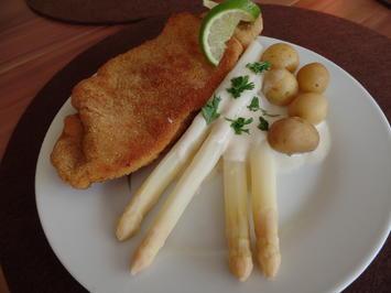 Wiener-Schnitzel mit Spargel - Rezept