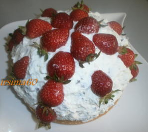 Rezept: Mini Erdbeer - Stracciatella – Kuppeltorte