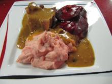 Schulterbraten mit Rote Bete Gemüse und Barbie Pürree - Rezept - Bild Nr. 11