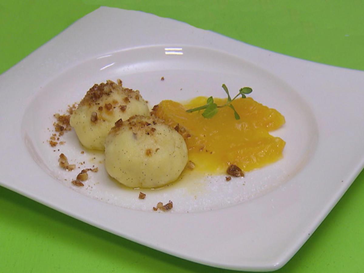 Grießknödel mit Orangenragout - Rezept By Das perfekte Dinner