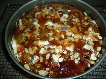Rabarberkuchen mit Topfen + Mohn und Mandelblättchen. - Rezept - Bild Nr. 4