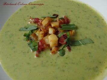 Rezept: Bärlauch-Erbsen-Cremesuppe