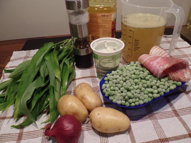 Bärlauch-Erbsen-Cremesuppe - Rezept - Bild Nr. 2