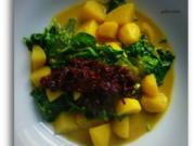 Thailändisches Kartoffelcurry mit Spinat - Rezept