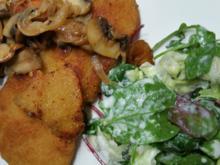 Zitronen-Vanille Schnitzel mit Salat und Champignons à la Biggi - Rezept - Bild Nr. 16