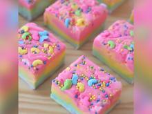 Regenbogen-Kuchen ohne Backen - Rezept