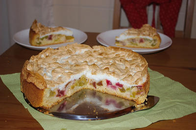 Rezept: Rhabarber-Meringe-Kuchen von Mama