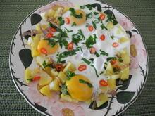 Kartoffel - Eier - Pfanne mit Bärlauch - Rezept
