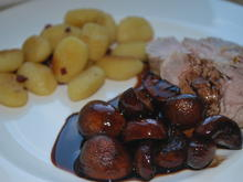 Schweinefilet mit Portweinpilzen und gebratenen Gnocchis - Rezept