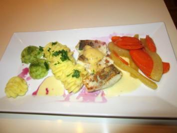 Zander auf Möhren Birnen Gemüse - Rezept