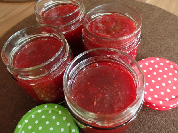 Erdbeer-Himbeer-Konfitüre - Rezept - Bild Nr. 9
