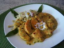 Hähnchen -Apfel-Curry-Pfanne - Rezept