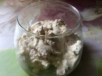 Pfeffer-Nuss-Frischkäsecreme mit Ahornsirup - Rezept