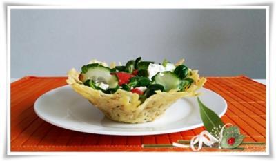 Parmesan-Sesam Körbchen  für  knackigen Salat - Rezept